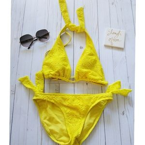 Yellow Summer Two Piece Swimsuit